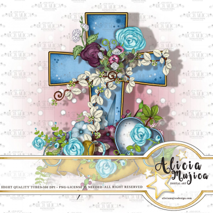 Floral Cross by Alicia Mujica 2018
