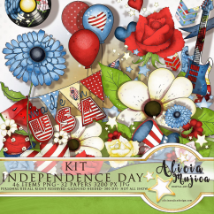 Kit Independence Day by Alicia Mujica 2018