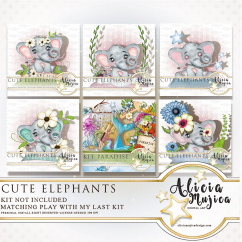 Cute Elephants by Alicia Mujica July 2018