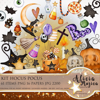 Kit Hocus Pucus by Alicia Mujica 2018