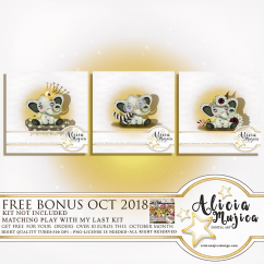 FREE Bonus Cute Elephant by Alicia Mujica Oct 2018