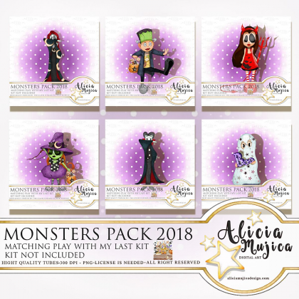 Monster Pack 2018 by Alicia Mujica