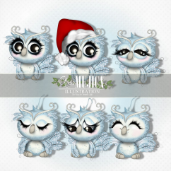 Winter Owls by Alicia Mujica