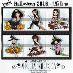 Pack Halloween 6x 9,95 by Alicia Mujica 2016