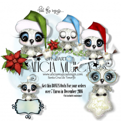 FREE December Owls by Alicia Mujica 2016