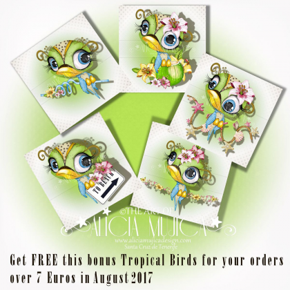 FREE bonus Tropical birds August