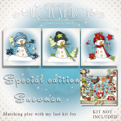 Snowman special edition by Alicia Mujica 2017