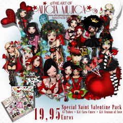 Special Saint Valentine Pack 15 tubes  + Kit Caro Cuore + Kit Season of love x 19,99 Euros