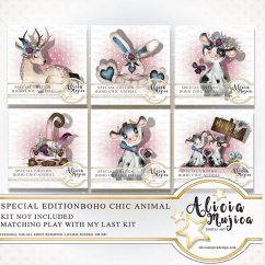 Boho Chic animals by Alicia Mujica Special edition 2018