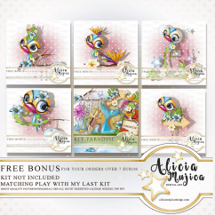 FREE BONUS Tropical birds July 2018 by Alicia Mujica