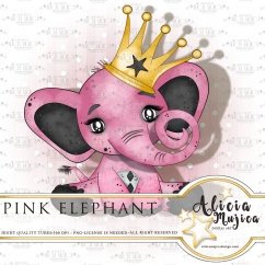 Pink Elephant by Alicia Mujica 2018