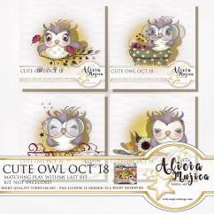 Cute owls Oct 2018 by Alicia Mujica
