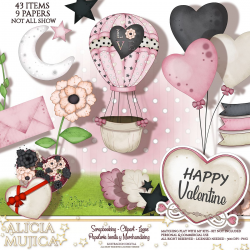 Kit Happy Valentine by Alicia Mujica 2019