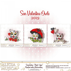 Saint Valentine Owls 2019 by Alicia Mujica
