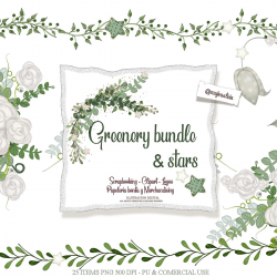Greenery bundle & stars February 2019 by Alicia Mujica