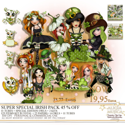 Super special Irish Pack by Alicia Mujica 2019 45% OFF by Alicia Mujica 2019