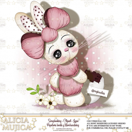 Rabbit Marzo Pink by Alicia Mujica 2019
