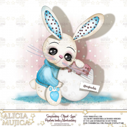 Rabbit Marzo Blue by Alicia Mujica 2019