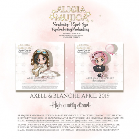 Axell y Blanche Abril by Alicia Mujica 2019