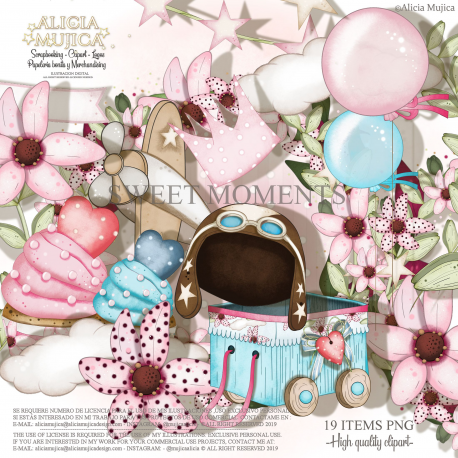 Set Sweet Moments  by Alicia Mujica 2019