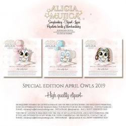 Special edition April Owls 2019 by Alicia Mujica