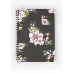 Libreta Mod Pink flowers with dots