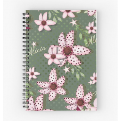 Libreta mod Kaky with Pink flowers