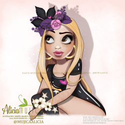 Clipart - Character Nichole by Alicia Mujica