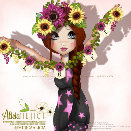 Clipart - Character September  by Alicia Mujica 2019
