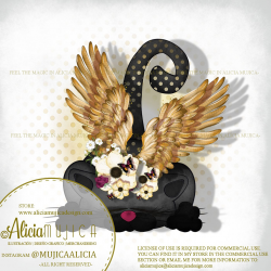 Winged Cat Black by Alicia Mujica 2020