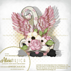 Winged Cat pink by Alicia Mujica 2020