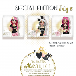 July Special edition girls 5 By Alicia Mujica