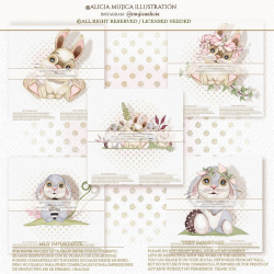 Easter Bunnies by Alicia Mujica 2021