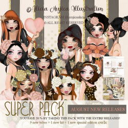 Super Pack August New releases by Alicia Mujica