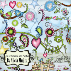 Kit Whimsical & Playful by Alicia Mujica 2016