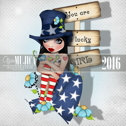 You are a lucky girl by Alicia Mujica 2016
