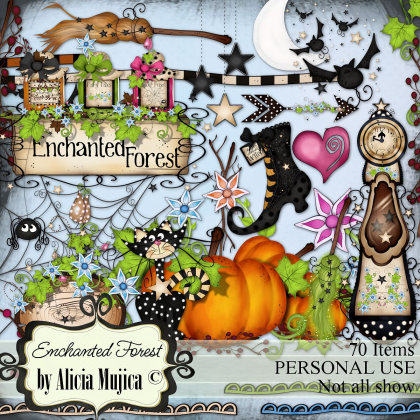 Kit Enchanted Forest by Alicia Mujica 2016