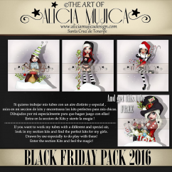 Black Friday Pack 2016 by Alicia Mujica