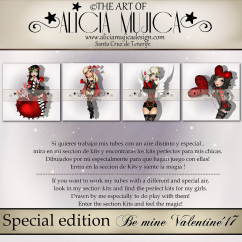 Special edition Be mine Valentine by Alicia Mujica 2017
