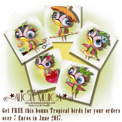 FREE Tropical Birds by Alicia Mujica 2017