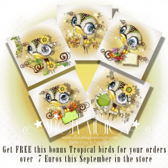 FREE Bonus Tropical Birds by Alicia Mujica September 2017
